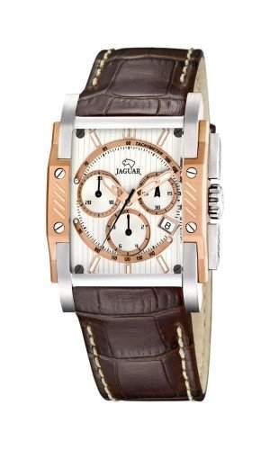 Jaguar J6443 Herrenuhr Chronograph Lederband Stoppuhr Analog Datum