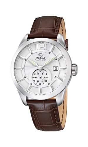 Jaguar Watches Herren-Armbanduhr XL Analog Quarz Leder J6631