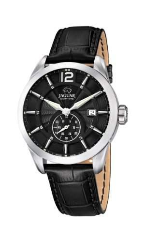 Jaguar Watches Herren-Armbanduhr XL Analog Quarz Leder J6634