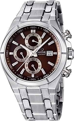 Jaguar Herren Armbanduhr Chronograph Analog Datum Edelstahl Edelstahlband J6653