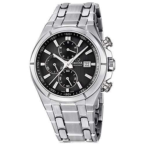 Jaguar Herren Armbanduhr Chronograph Analog Datum Edelstahl Edelstahlband J6654