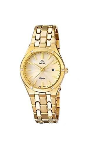Jaguar Damen Armbanduhr Analog Datum Edelstahl J6722