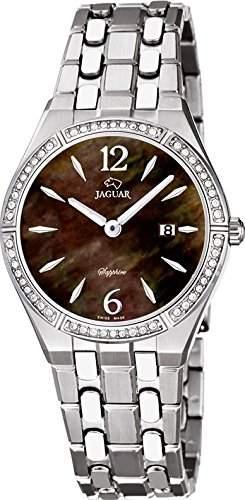 Jaguar Damen Armbanduhr Analog Datum Edelstahl J6732