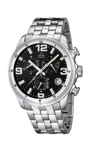 Jaguar Herren Armbanduhr Chronograph Analog Datum Edelstahl J6773