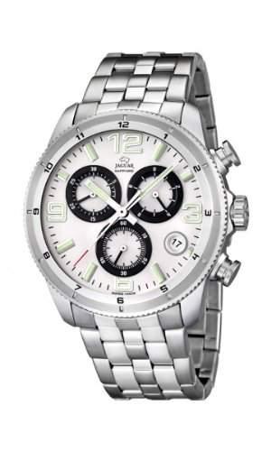 Jaguar Herren Armbanduhr Chronograph Analog Datum Edelstahl J6774