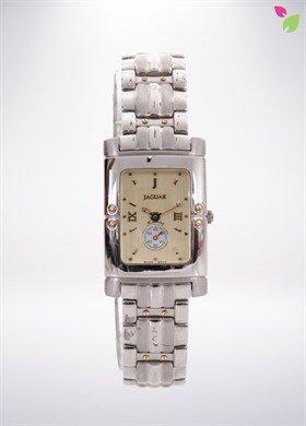 Jaguar J285 CH Uhr Damen Quarz Swiss Made Kette aus Edelstahl Zifferblatt Farbe Champagne