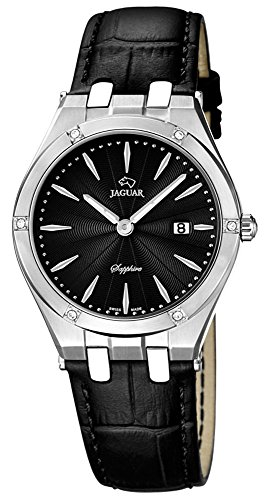 JAGUAR SWISS MADE Armbanduhr Lederband Analog Quarzuhr J674 Farben schwarz