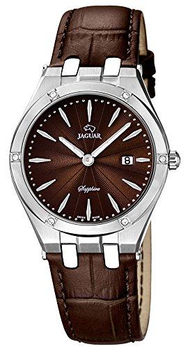 JAGUAR SWISS MADE Armbanduhr Lederband Analog Quarzuhr J674 Farben braun