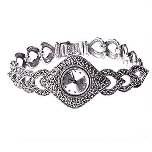 Thail Sterling Silber Markasit Antik Damen Uhr Damen Schmuck