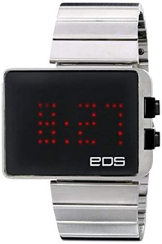 EOS New York - LED Watch Black - Stahl Schwarz LED Digital Unisex Uhren