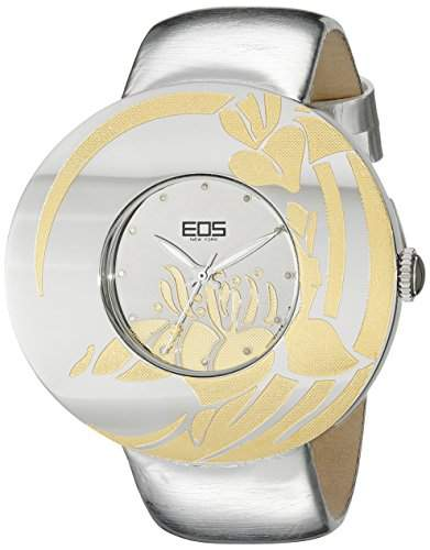 EOS New York Damen 53SSILGLD Jasmine Silber Leder Uhr