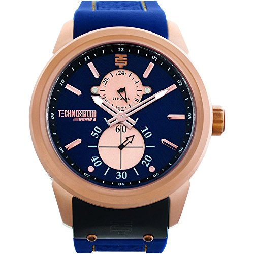 TechnoSport Damen Chrono Uhr AQUA rose gold navy