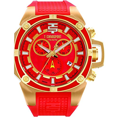 TechnoSport Damen Chrono Uhr DREAMLINE gold coral