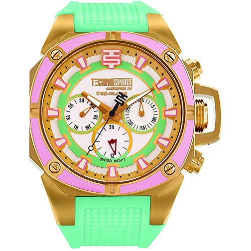TechnoSport Damen Chrono Uhr DREAMLINE gold gruen