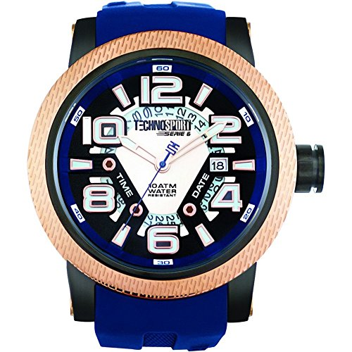 TechnoSport Damen Chrono Uhr JET SET gold navy