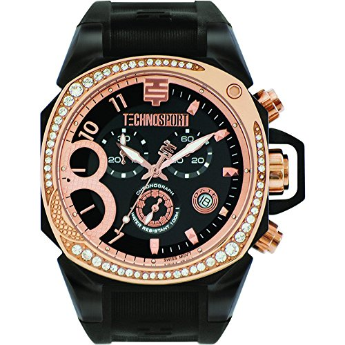 TechnoSport Damen Chrono Uhr RADIANCE rose gold schwarz