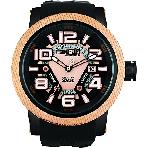 TechnoSport Damen Chrono Uhr JET SET gold schwarz
