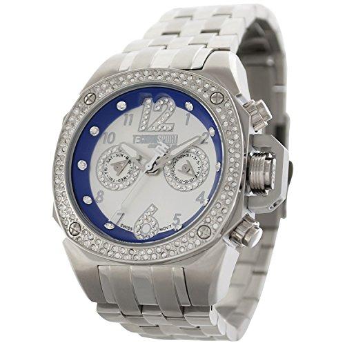 TechnoSport Damen Chrono Uhr Silber