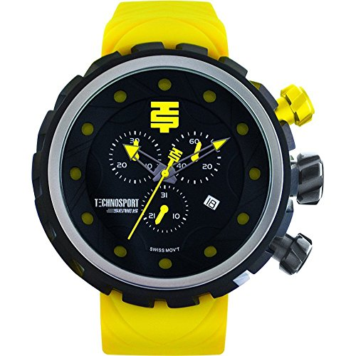 TechnoSport Herren Chrono Uhr BOLD schwarz lime