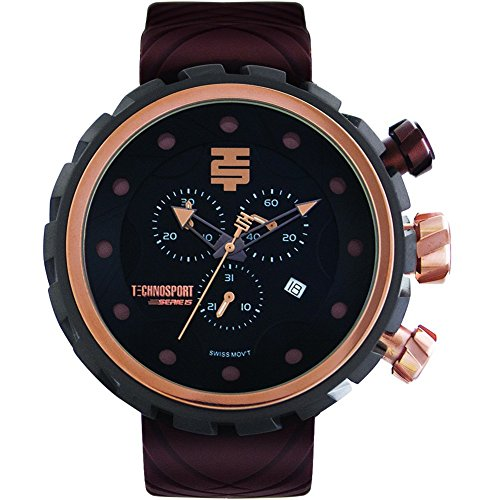 TechnoSport Herren Chrono Uhr BOLD schwarz braun