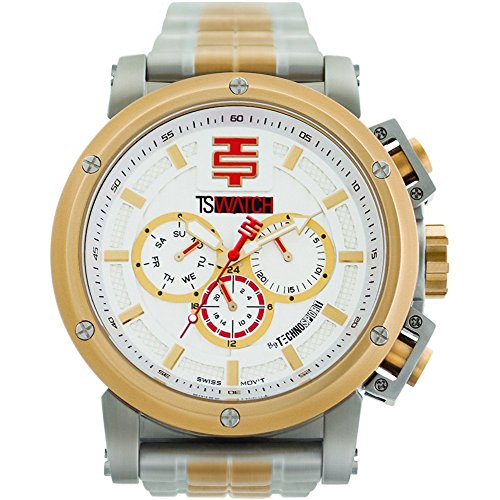 TechnoSport Herren Chrono Uhr Silber Gold