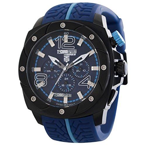 TechnoSport Unisex Chrono Uhr Schwarz Blau