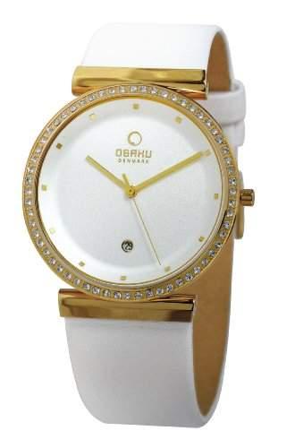 Obaku Harmony Damen-Armbanduhr Analog Quarz Leder 28-V137UGIRW1