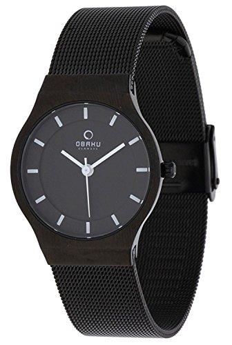 Obaku Damen Armbanduhr Schwarz V123LXBBMB