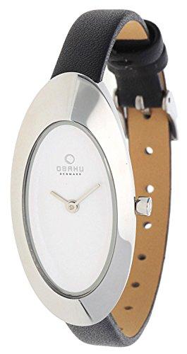 Obaku Damen Armbanduhr Schwarz V156LCIRB