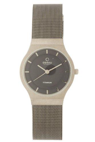 Obaku Harmony Damen Armbanduhr V123L TJMJ Titan Glas
