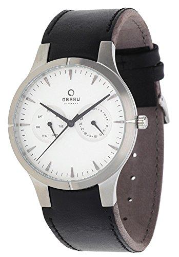 Obaku Herren Armbanduhr Schwarz V100GCIRB3