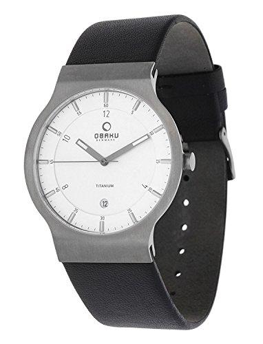 Obaku Herren Armbanduhr Schwarz V133XTIRB
