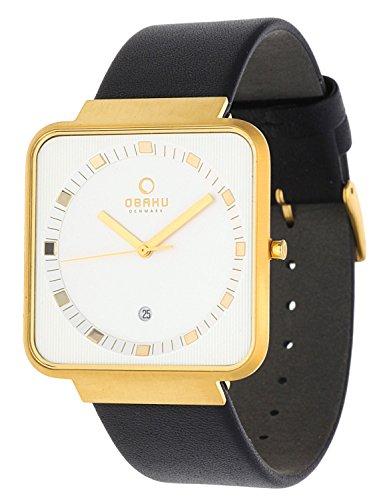 Obaku Herren Armbanduhr Schwarz V139GGIRB