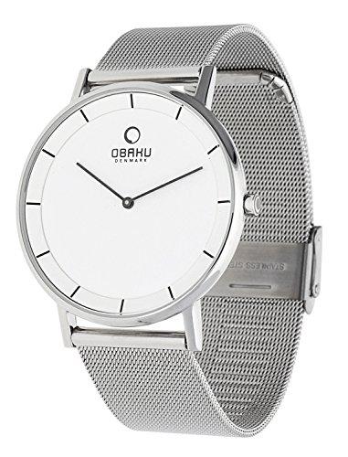 Obaku Herren Armbanduhr Silber V143XCWMC