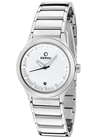 Obaku Harmony Damen-Armbanduhr V115L CWSC Titan-Glas