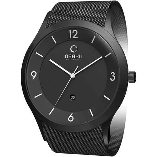 Obaku Harmony Herren-Armbanduhr Extra gross V132X BBMB