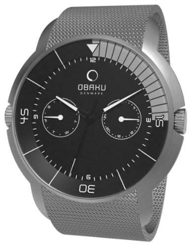Obaku Harmony Herren-Armbanduhr XL Analog Edelstahl V141GCBMC