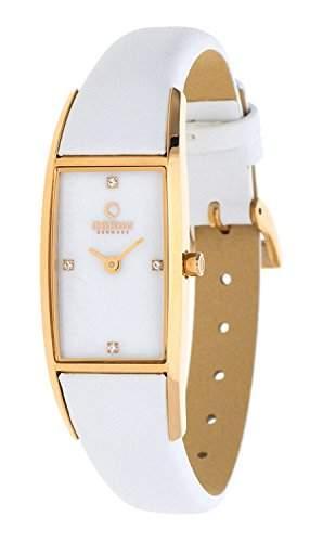 Obaku Denmark Damen-Armbanduhr Analog Quarz Leder V150LVWRW