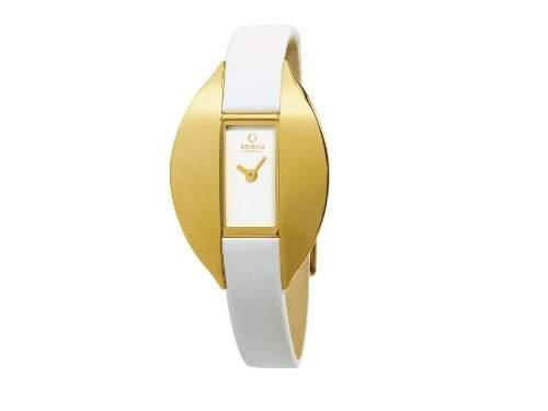 Obaku Denmark Damen-Armbanduhr Analog Quarz Leder V155LGIRW