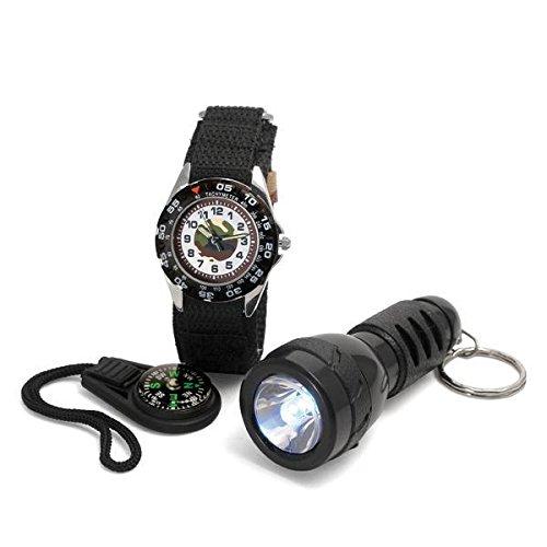 Time Design tdw5102 Kinder Uhr Taschenlampe und Kompass Geschenk Set