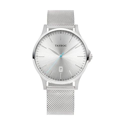 Tayroc Analog Quartz Gitter Silber TXM106