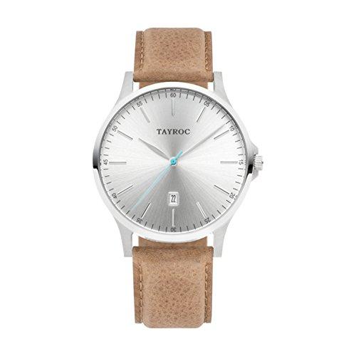 Tayroc Herrenuhr Analog Quartz Leder Sand TXM100