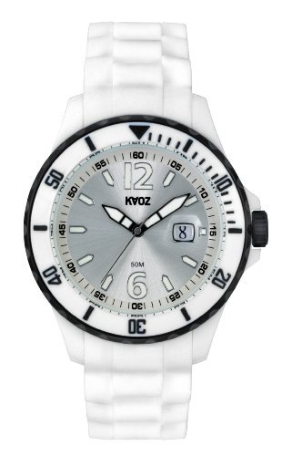 KA OZ Analog Quarz Big Weiss Silikon A62109H4I