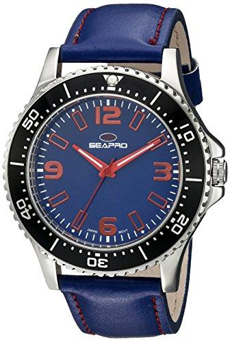 Seapro Herren sp5313 Analog Anzeige Quarz blau Armbanduhr