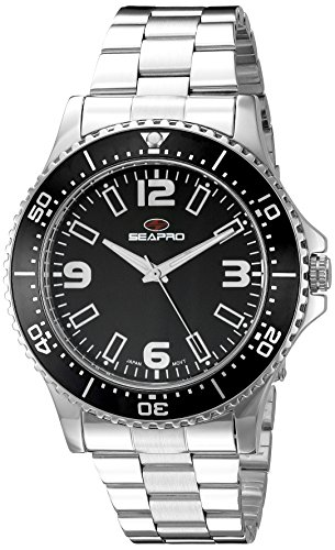 Seapro Herren sp5330 Analog Anzeige Quarz Silber Armbanduhr