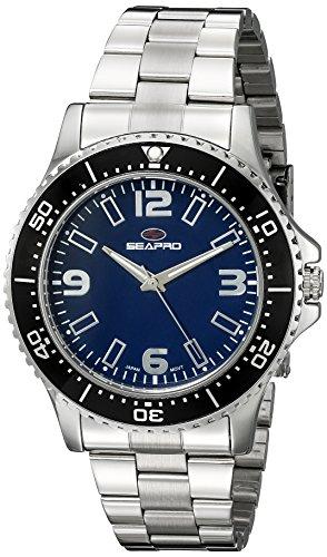 Seapro Herren sp5332 Analog Anzeige Quarz Silber Armbanduhr