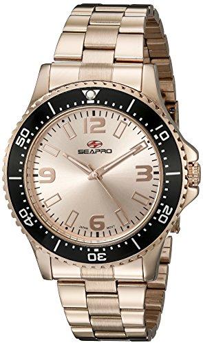Seapro Herren sp5334 Analog Anzeige Quarz Rose Gold Watch