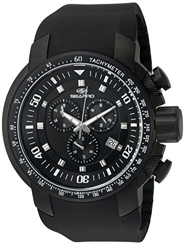 Seapro Herren sp7123 Imperial Analog Display Swiss Quartz Black Watch