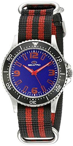 Seapro Herren sp5313nr Analog Display Quarz Zweifarbige Armbanduhr