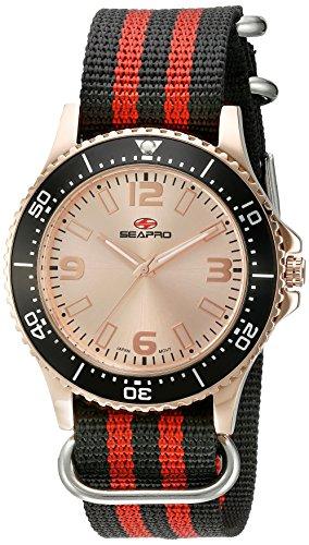 Seapro Herren sp5314nr Analog Display Quarz Zweifarbige Armbanduhr